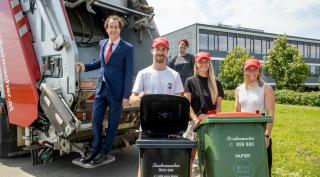Den Internationalen Tag der Müllabfuhr begeht Saubermacher mit sportlicher Verstärkung. Foto: (c) E. SCHERIAU