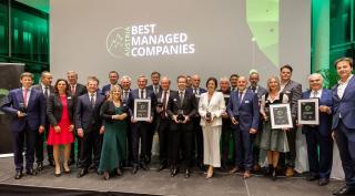 Gruppenfoto der Preisträger Austria´s Best Managed Companies 2021, Fotocredit Christian Steinbrenner