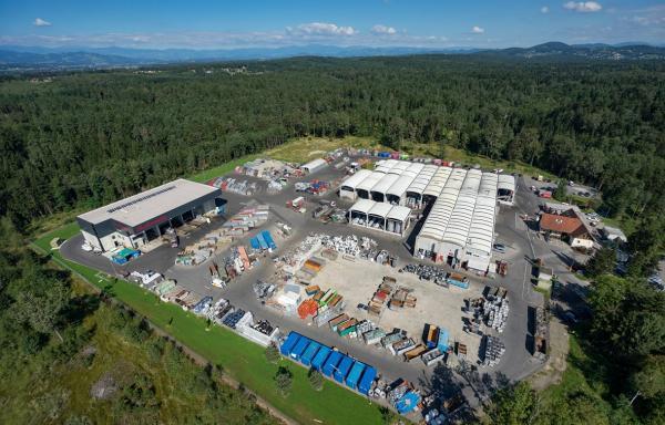 Luftbild vom Saubermacher Standort Premstätten