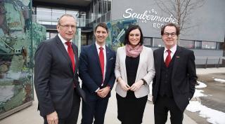 Bundesministerin Köstinger besuchte Saubermacher