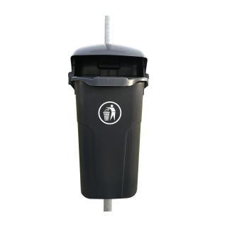 Sammelbehälter für den Außenbereich, 50 Liter, erhältlich bei Saubermacher