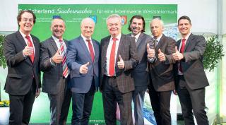 Im Bild zu sehen: Hans Roth, Adolf Meixner (Preding), Hans Seitinger (Land Steiermark), Anton Lang (Land Steiermark), Josef Wallner (Deutschlandsberg), Bernd Hermann (Frauental a.d. Lafnitz)und Ralf Mittermayr.