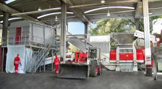 Die Werkstättenabfall-Splittinganlage in Premstätten zählt zu den wichtigsten Anlagen bei Saubermacher