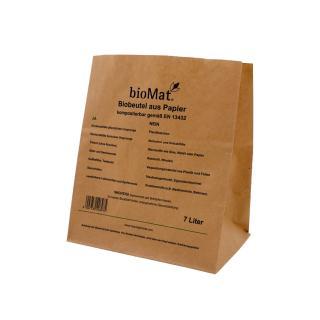 Biobeutel aus Papier, 7 Liter erhältlich bei Saubermacher